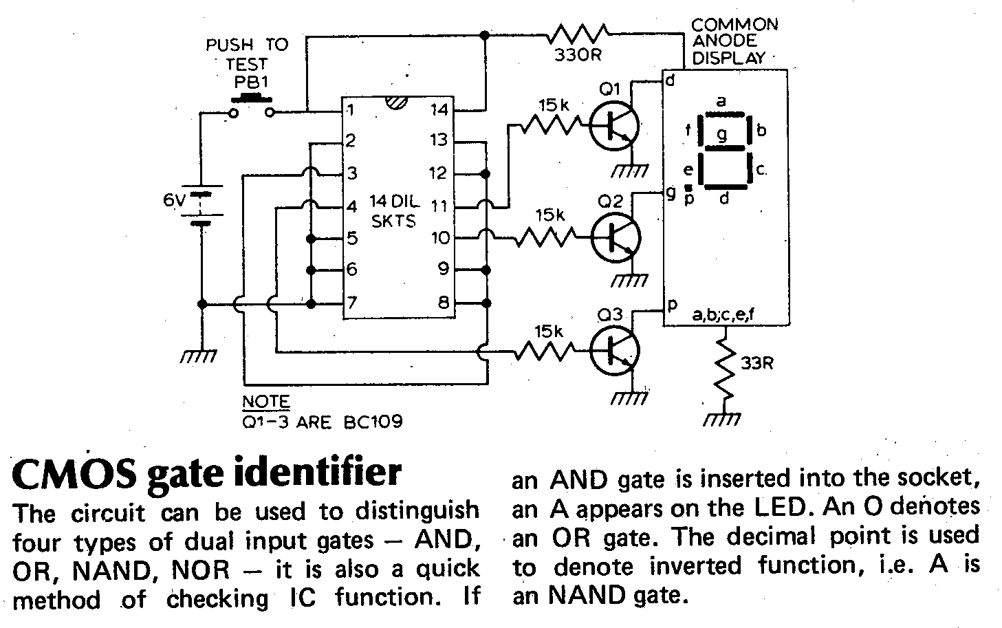 List Of Diy Ic Tester Projects Cnk In Circuit Transistor Schematic Article